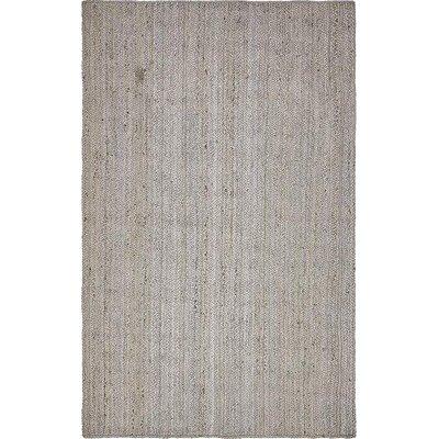 Mckenna Hand-Braided Gray Area Rug Rug Size: 5 x 8
