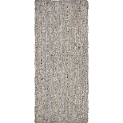 Mckenna Hand-Braided Gray Area Rug Rug Size: Runner 26 x 6