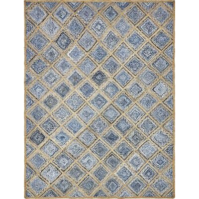 McRae Hand-Braided Blue Area Rug Rug Size: Rectangle 9 x 12