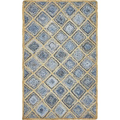 McRae Hand-Braided Blue Area Rug Rug Size: Rectangle 5 x 8