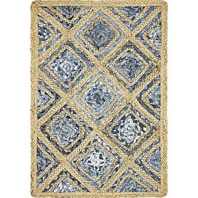 McRac Hand-Braided Blue Area Rug Rug Size: 2 x 3