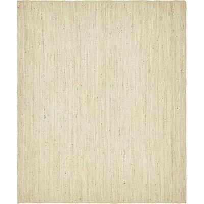 McRae-Helena Hand-Braided White Area Rug Rug Size: 8 x 10