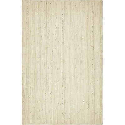 McRae-Helena Hand-Braided White Area Rug Rug Size: Rectangle 5 x 8