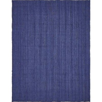 Chapell Hand-Braided Navy Blue Area Rug Rug Size: 9 x 12