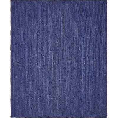 McVille Hand-Braided Navy Blue Area Rug Rug Size: 8 x 10