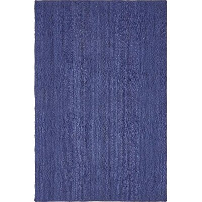 McVille Hand-Braided Navy Blue Area Rug Rug Size: 5 x 8
