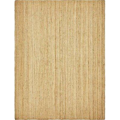 Meaghan Hand-Braided Natural Area Rug Rug Size: 9 x 12