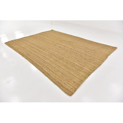 Meaghan Hand-Braided Natural Area Rug Rug Size: Rectangle 8 x 10