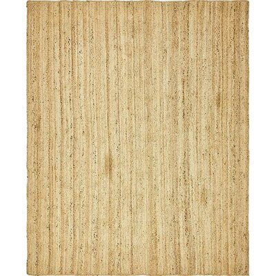 Meaghan Hand-Braided Natural Area Rug Rug Size: Oval 8 x 10