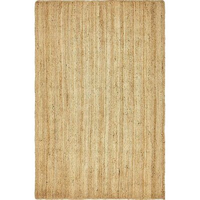 Meaghan Hand-Braided Natural Area Rug Rug Size: 5 x 8