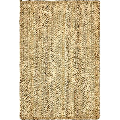 Meaghan Hand-Braided Natural Area Rug Rug Size: 2 x 3