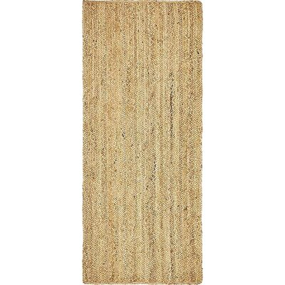Meaghan Hand-Braided Natural Area Rug Rug Size: Runner 2 6 x 6