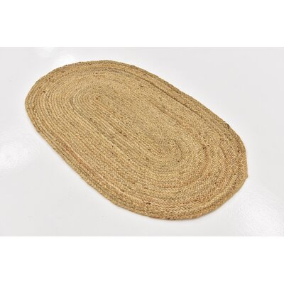 Meaghan Hand-Braided Natural Area Rug Rug Size: Oval 3 3 x 5