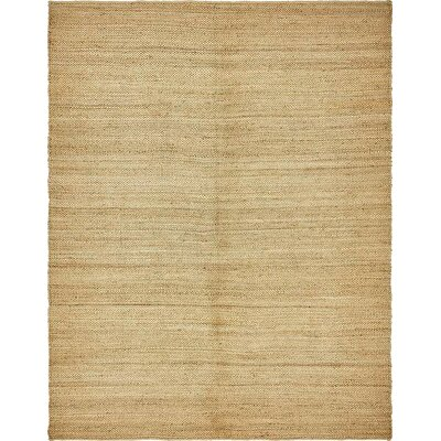 Petersen Hand-Woven Natural Area Rug Rug Size: 8 x 10