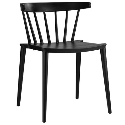 Florrie Side Chair Upholstery: Black