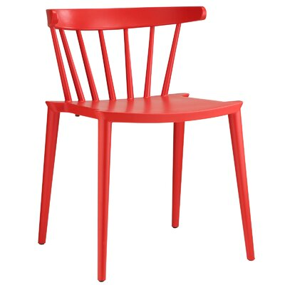 Florrie Side Chair Upholstery: Red
