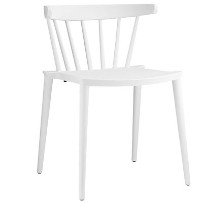 Florrie Side Chair Upholstery: White