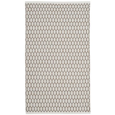 Modena Hand-Woven Beige/Ivory Area Rug Rug Size: Rectangle 3 x 5