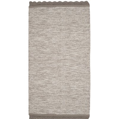Mohnton Hand-Woven Gray Area Rug Rug Size: Rectangle 3 x 5