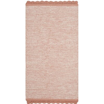 Mohnton Hand-Woven Peach/Gray Area Rug Rug Size: 8 x 10