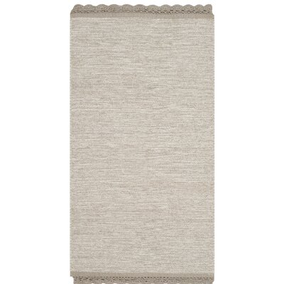 Mohnton Hand-Woven Beige Area Rug Rug Size: 5 x 8