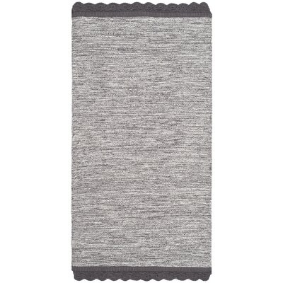 Mohnton Hand-Woven Charcoal Area Rug Rug Size: Rectangle 3 x 5