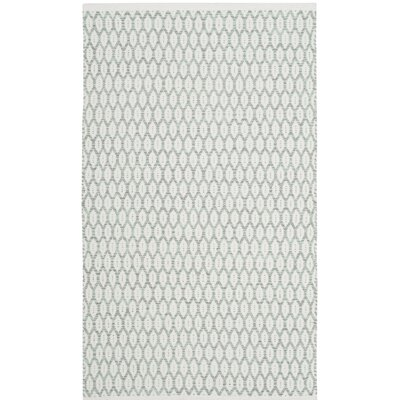 Modena Hand-Woven Light Green/Ivory Area Rug Rug Size: Rectangle 3' x 5'