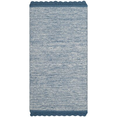 Mohnton Hand-Woven Blue/Gray Area Rug Rug Size: Rectangle 3 x 5
