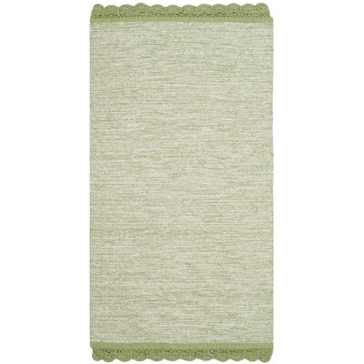 Leighton Hand-Woven Green/Gray Area Rug Rug Size: 23 x 39