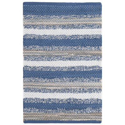 Monaca Hand-Woven Blue/Gray Area Rug Rug Size: Rectangle 26 x 4