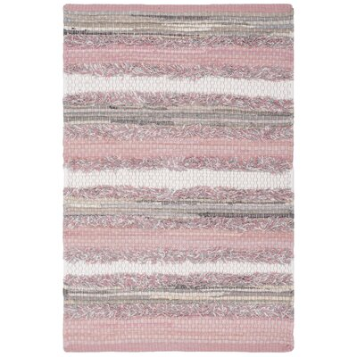 Monaca Hand-Woven Pink/Gray Area Rug Rug Size: Square 6