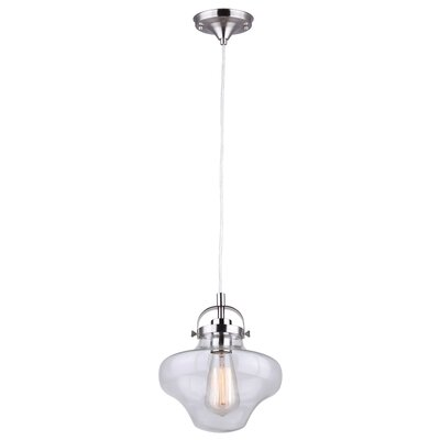 Folkston 1-Light Schoolhouse Pendant