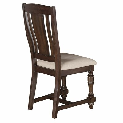 Fortunat Side Chair (Set of 2) Side Chair Finish: Espresso