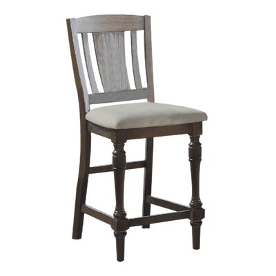 Fortunat 26 Bar Stool (Set of 2) Color: Gray