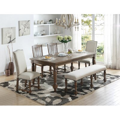 Fortunat Extendable Dining Table Finish: Gray
