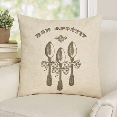 Campeaux Bon Appetit Linen Throw Pillow
