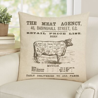 Campanule The Meat Agency Linen Throw Pillow