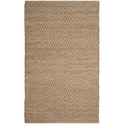 Frankie Fiber Hand-Woven Natural/Brown Area Rug Rug Size: 3 x 5