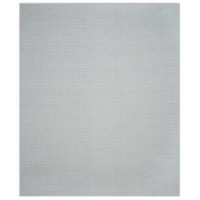 Oxbow Hand-Woven Ivory/Light Blue Area Rug Rug Size: Rectangle 26 x 4