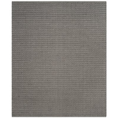 Oxbow Hand-Woven Ivory/Black Area Rug Rug Size: Runner 23 x 7