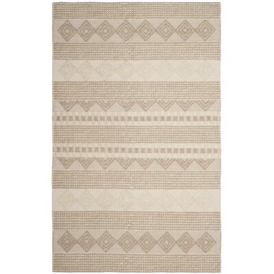 Billie Hand-Tufted Beige/Ivory Area Rug Rug Size: Runner 23 x 16