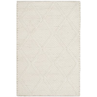 Billie Hand-Tufted Ivory Area Rug Rug Size: 5 x 8