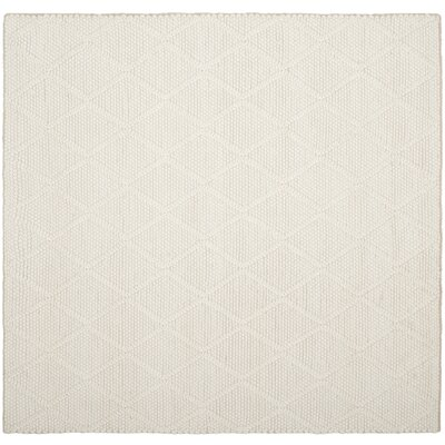 Billie Hand-Tufted Ivory Area Rug Rug Size: Square 6