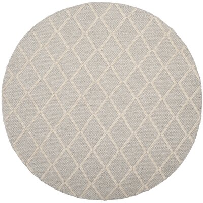 Billie Hand-Tufted Silver/Ivory Area Rug Rug Size: Rectangle 5 x 8
