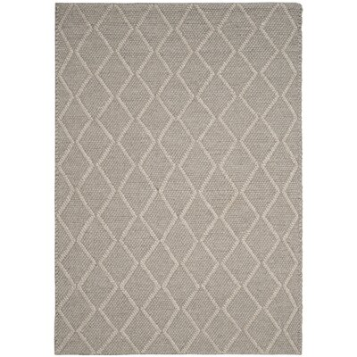 Billie Hand-Tufted Gray Area Rug Rug Size: Round 6