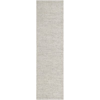 Frannie Hand-Tufted Ivory/Silver Area Rug Rug Size: Round 6