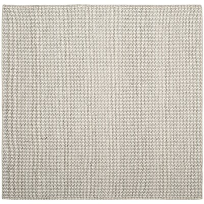 Newry Hand-Tufted Ivory/Silver Area Rug Rug Size: Square 6