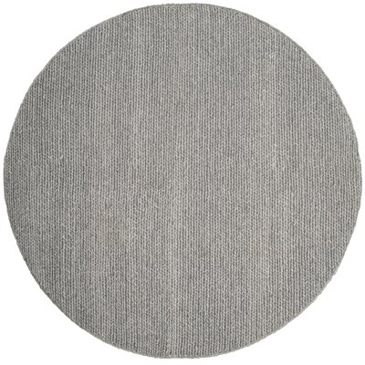 Newville Hand-Tufted Steel Area Rug Rug Size: Round 6