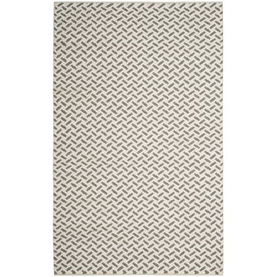 Billie Hand-Tufted Gray/Ivory Area Rug Rug Size: 5 x 8