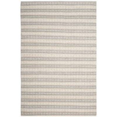 Billie Hand-Tufted Gray/Ivory Area Rug Rug Size: 3 x 5